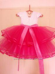 Пышное нарядное детское выпускное бальное платье