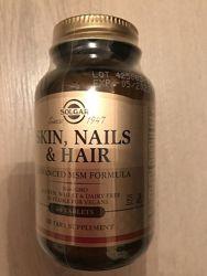 Витамины для волос Solgar, Skin, nails & hairу, 60 таблеток США