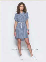Летнее платье рубашка из софта, разные расцветки, р-ры 46-52