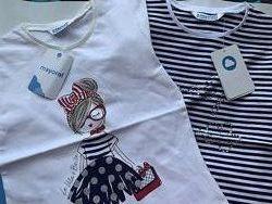 Літні футболки Футболочки для дівчаток на 2 шт Mayoral майорал 4,5,6,8,9р
