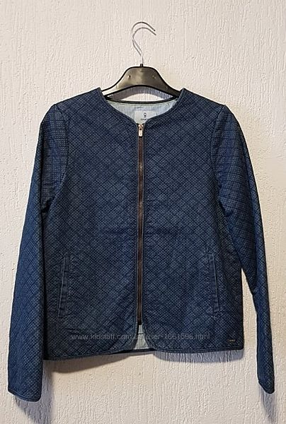 Джинсова тепла куртка-піджак для дівчинки 12р 152см