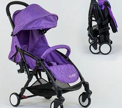 Коляска детская прогулочная JOY книжка аналог Йога, Yoya фиолетовая
