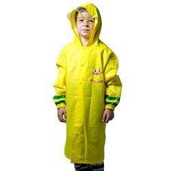 Детский дождевик с капюшоном и местом под рюкзак жёлтый Minshen жёлтый унис