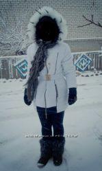 Пуховик белый куртка