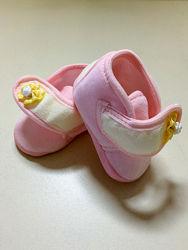 Пинетки новые для девочки 0-12 месяцев Omnia baby