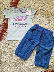 Летний костюм комплект для девочки. Шорты бриджи и футболка. Венгрия.