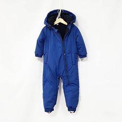Зимний комбинезон синий для мальчика 62-98 рр.