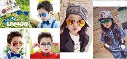Яркие стильные, детские очки Авиаторы Для вашего ребенка