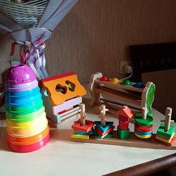 Комплект игрушек Fisher price Cubika Мир деревянных игрушек