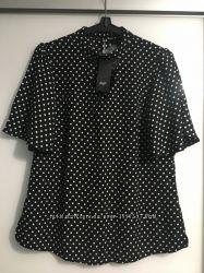 Офисная блузка в горох FF