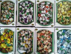 Конфеты шоколадные. Сухофрукты в шоколаде. Большая разновидность видов.