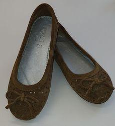 Балетки в сеточку коричневые mayoral размер 28