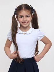 Школьная блузка Smil Белая, Голубая