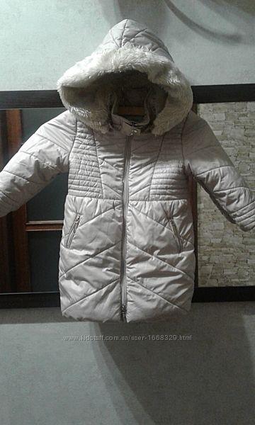 Зимова тепла куртка-пальто mayoral на дівчину 98р