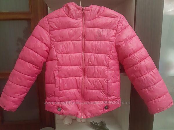 Тепла куртка весна-осінь на дівчину 7-8 років