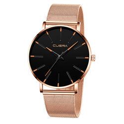 Наручные мужские часы с золотистым браслетом код 526