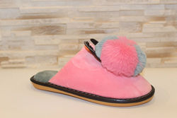 Тапочки комнатные женские розовые Ушки с кроликом Тп78