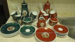 Кобальтовый чайный сервиз на 10 персон, 40 предметов, Германия, 70-е г. ХХв