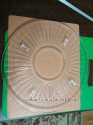 Блюдо-подставка из художественного стекла, Германиядиаметр 30 и 32см