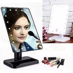 Зеркало с подсветкой для макияжа / Large Led Mirror Белый сенсор управление