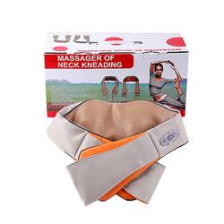 Массажер роликовый для спины и шеи Massager of neck kneading универсальный