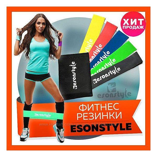 Фитнес Резинки Esonstyle, 5 резинок разной жесткости, спортивные петли