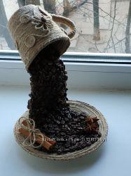 Оригинальный подарок в эко-стиле - парящая чашка кофейный водопад