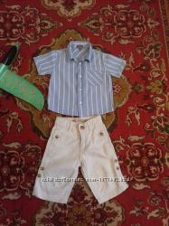 Рубашка, шорты на мальчика на 9-12 мес.