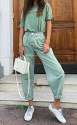 Слаучи Zara размер 36 slouchy Зара джинсы слоучи мятные