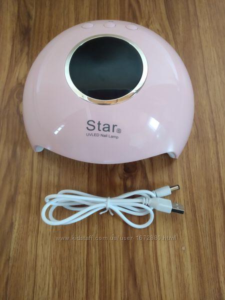 Лампа для ногтей LED 36 Вт с сенсорным включением и екраном