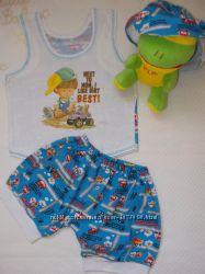 Пакет вещей. Лето. Комплект, шорты, футболка. Мальчик 1-1, 5 года. Рост 80-