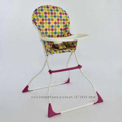 Стульчик для кормления детей Joy LY 100 2 цветной горох