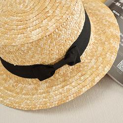 Шляпа канотье из 100 натуральной соломы