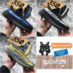 Мужские кроссовки Adidas Yeezy Boost, черные, серые, р. 41-45, INF164-166