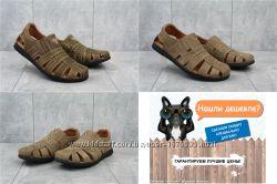 Мужские кожаные сандалии босоножки YDG, р. 40-44, OF9144