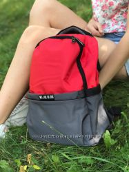 Красивый женский красно серый рюкзак, 38х26 см, 16 л, NIF1071