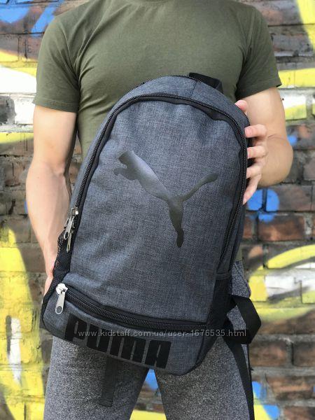 Стильный серый рюкзак Puma, унисекс, 44x30 см, NIF1080
