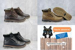 ТОП качество кожаные Riccone зимние мужские ботинки, 40-45, OFRiccone 222