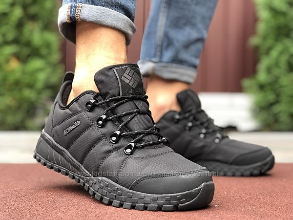 Теплые мужские кроссовки Коламбия Columbia, черные р. 41-46, 005-9931