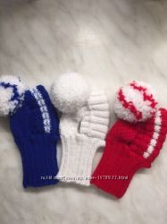 Вязаные зимние шапки для собак. Шапки для йорка, лютой, шпица, чихуахуа.