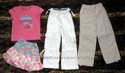 Одежда футболка, юбка, штаны на девочку 6-7 лет, рост 116-122