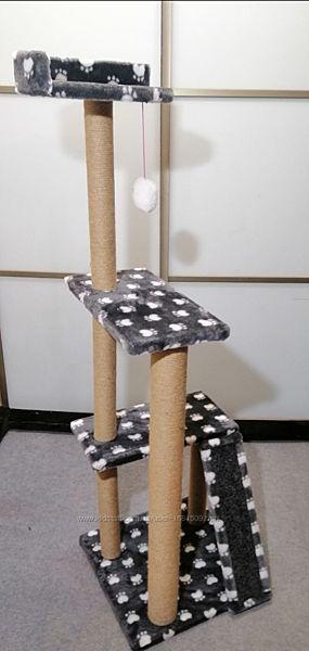 Когтеточка домик для котов игровой комплекс для котиков