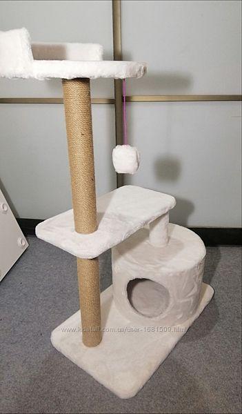 Когтеточка домик для котов двухуровневый игровой комплекс для котиков дом