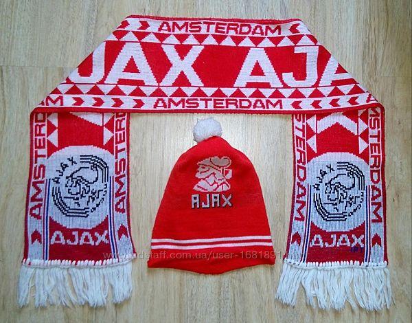 Комплект шапка и шарф футбольного клуба Ajax