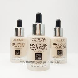 Тональный крем catrice hd liquid coverage foundation, тональный крем катрис
