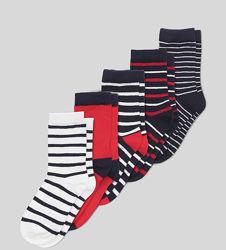 Носки c&a 21 - 23 21 набор носков 22 23 полоску красные
