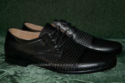 Классические мужские летние туфли, кожа