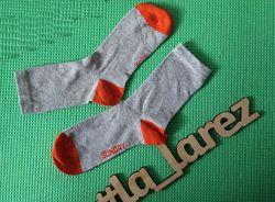 Носки хлопок деми серые оранж tchibo чибо германия размер 31-34,