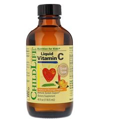 Акция ChildLife, жидкий витамин C, натуральный апельсин, оригинал, США