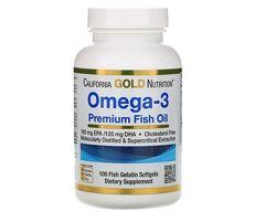 Акция California Gold Nutrition Omega-3, 100 капсул Омега3 США, оригинал